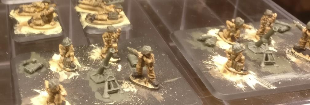 Naklar in Großaufnahme: die 3 Inch Mortars der British Infantry.