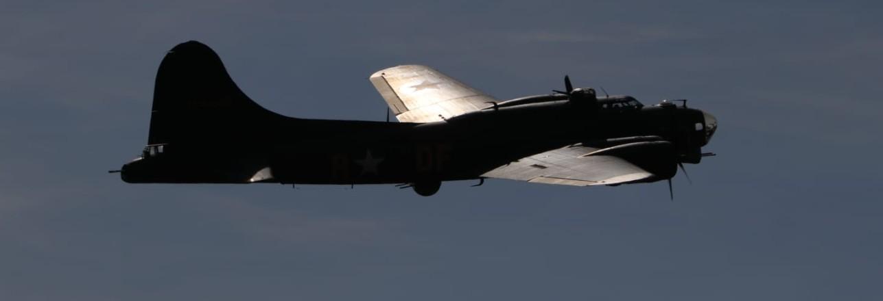 """Auf der Sanicole Airshow 2019: die B-17 Flying Fortress """"Memphis Belle"""""""
