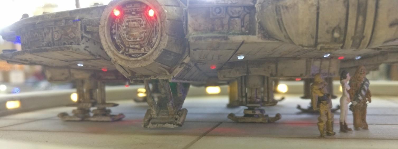 """""""Star Wars V - Landing on Cloud City"""" von Wanessa Soniadu auf der 30. Jubiläum Modellbauausstellung des PMC Main-Kinzig in Gelnhausen-Meerholz am 5. Oktober 2019"""