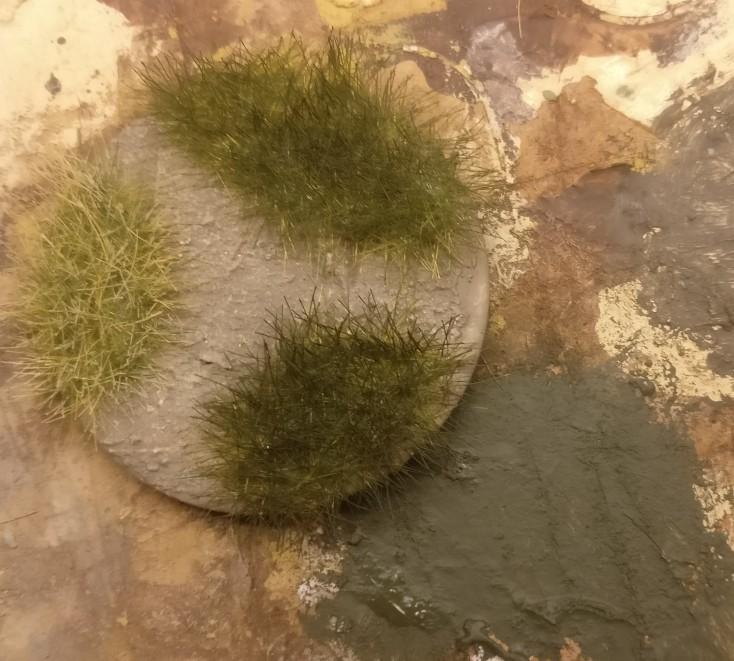 Ergebnis der Pflanzung mit 6mm-Gras