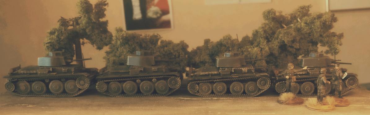 Die vier PzKpfWg 38t von DeAgostini