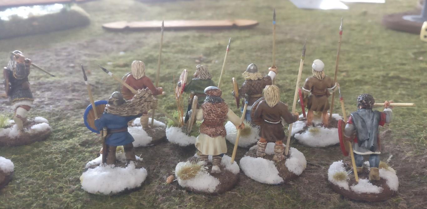 Die heidnischen Rus ziehen in die Schlacht...