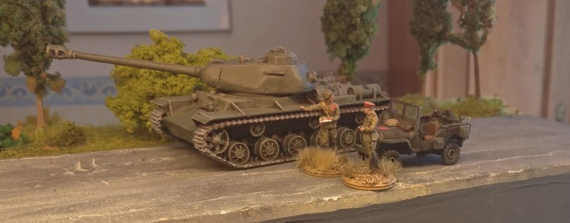 Der IS-2 Heavy Tank von der Seite.