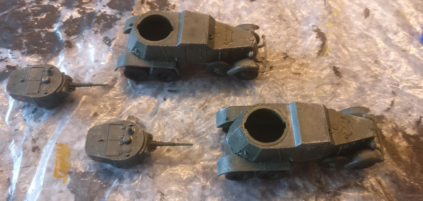 """Die beiden Pegasus 7672 """"BA-6 Armored Cars"""" im Ursprungszustand."""