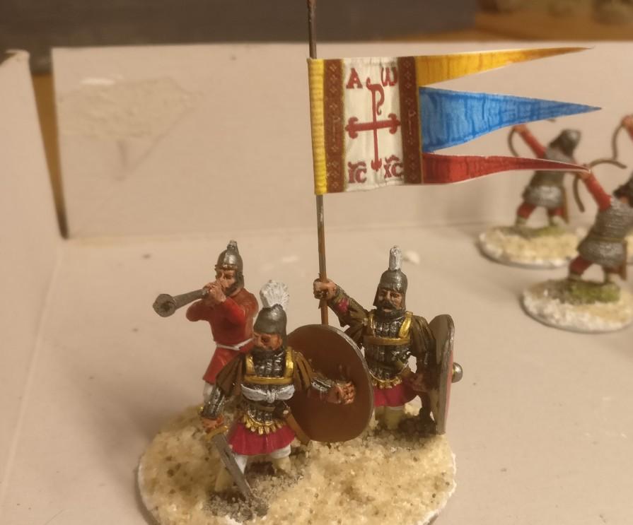 Der Cheffe der Byzantiner. Er hat eine große Base bekommen.