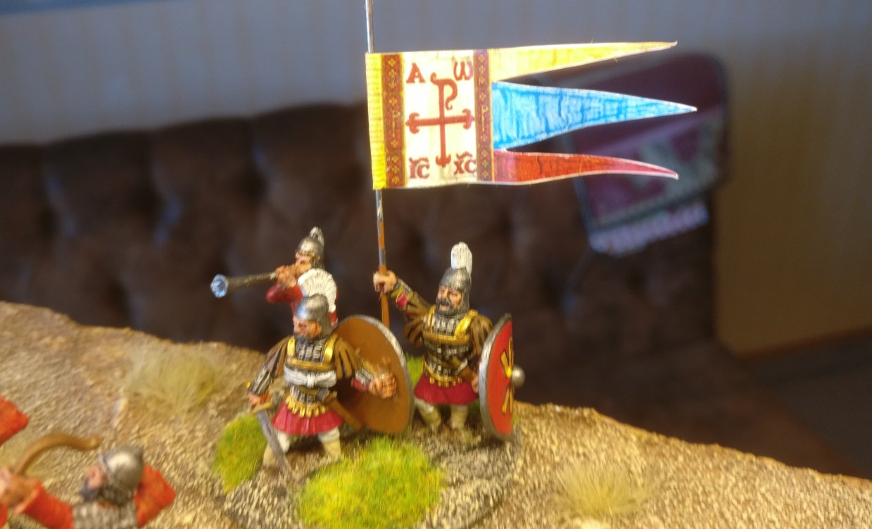 Und hier ist der byzantinische SAGA-Warlord wieder im Einsatz...