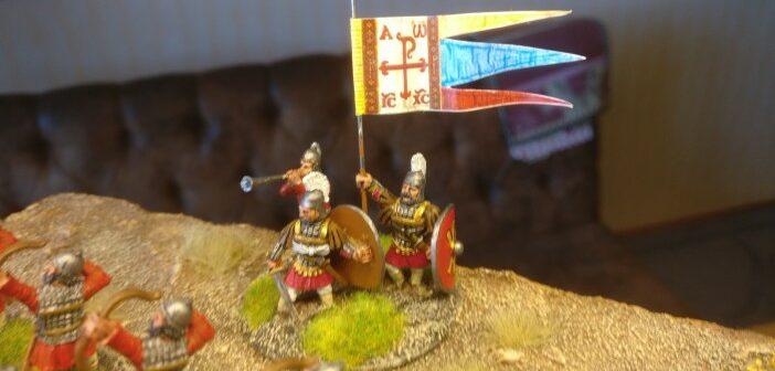 SAGA: Byzantiner Flaggen und Anführer
