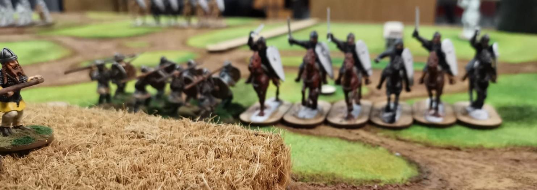 SAGA-Spiel bei den Asgards am Tag der mperialen Einheit: Normannen gegen Nordische Gälen