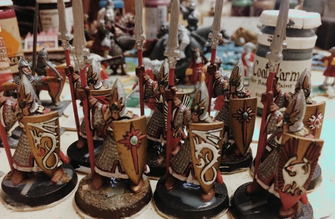 Hochelfen von Marinellian: Krieger für XENAs SAGA-Armee.
