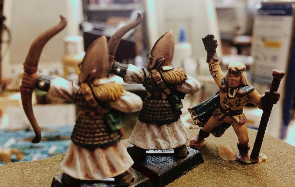 Hochelfen von Marinellian: Bogenschützen (Krieger) für XENAs SAGA-Armee.