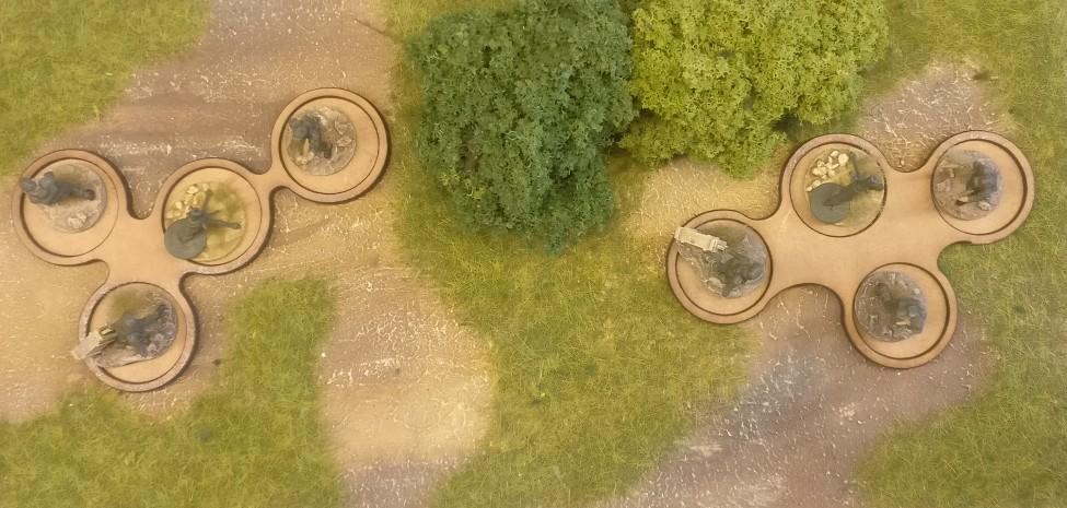 Die Laser Cut MDF Infantry Trays von Paint Empire von oben im Einsatz