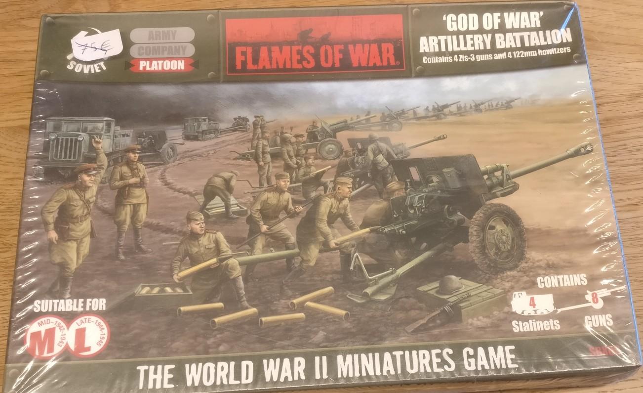 Das Flames Of War Soviet 'God Of War' Artillery Battalion verspricht dem Artillerie-Fan Sturmi viel Spielspaß!