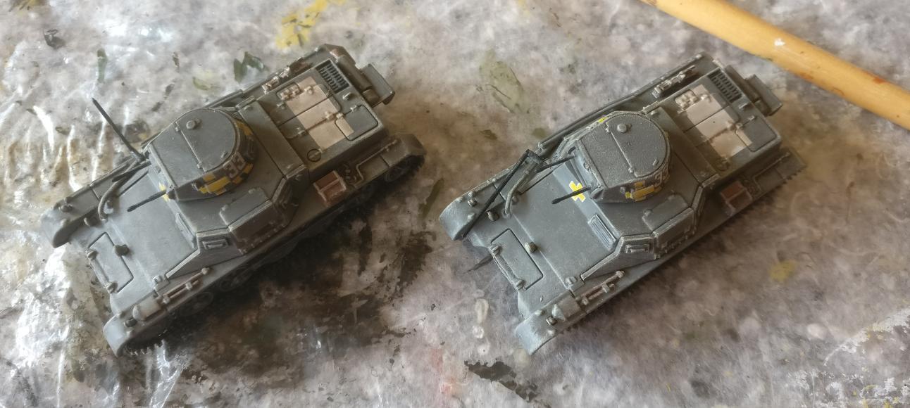 So sahen die beiden Panzer I Ausf. B im Ursprungszustand aus.