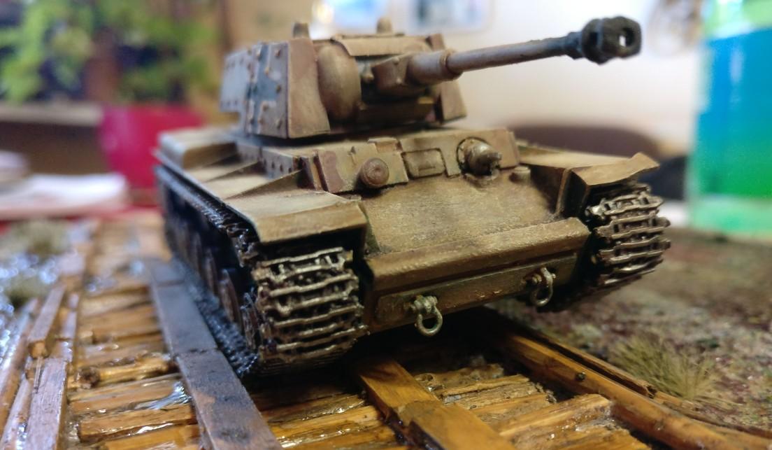 Der erbeutete KV-I in deutschen Diensten.