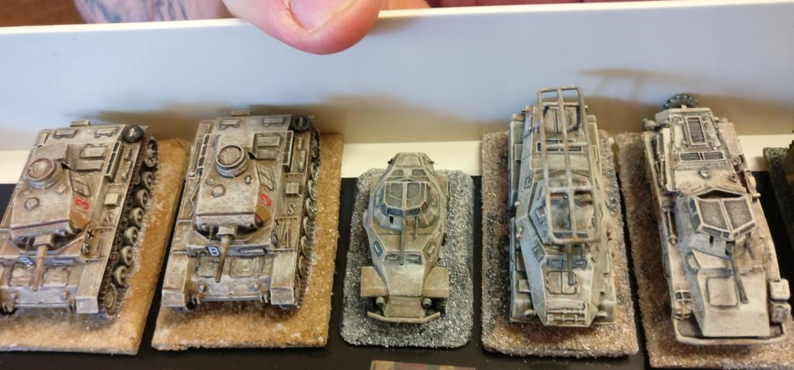 Einige Fahrzeuge des Deutschen Afrika Korps.