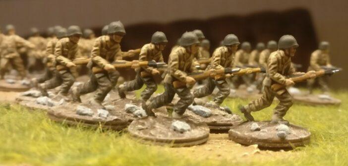 Sturmlauf: von der Bemalung der letzten US Infanteristen des neuen Bataillions