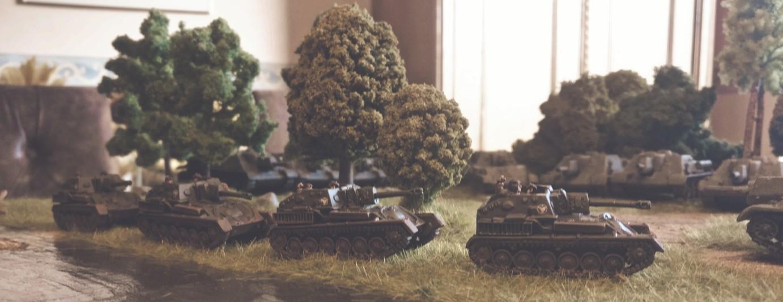 Die SU-76 der 4. Batterie des 1437. Selbstfahrartillerie-Regiment