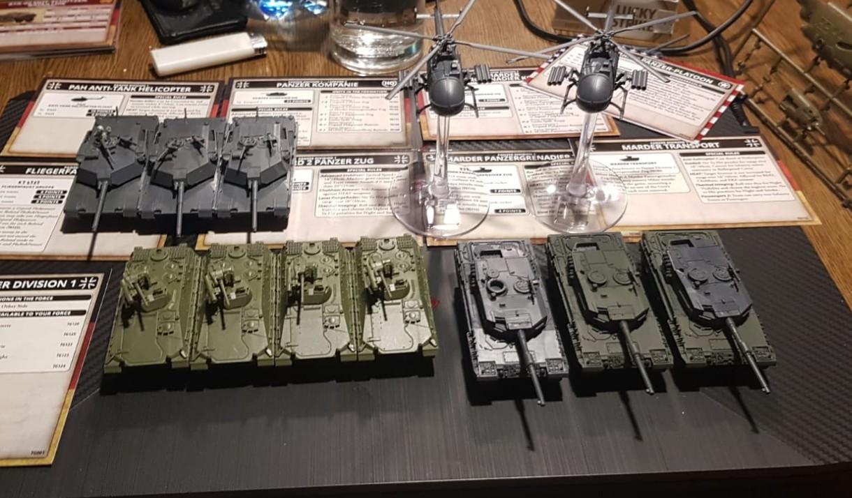 Ein wenig Bundeswehr hat Dominic auch aufgeforstet: Kampfpanzer Leopard und Schützenpanzer Marder.