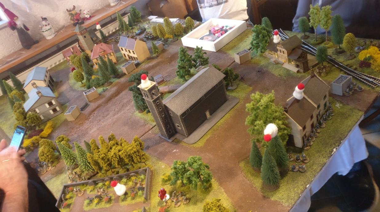 Unser Spielfeld für das Battlegroup-Szenario Market Garden.