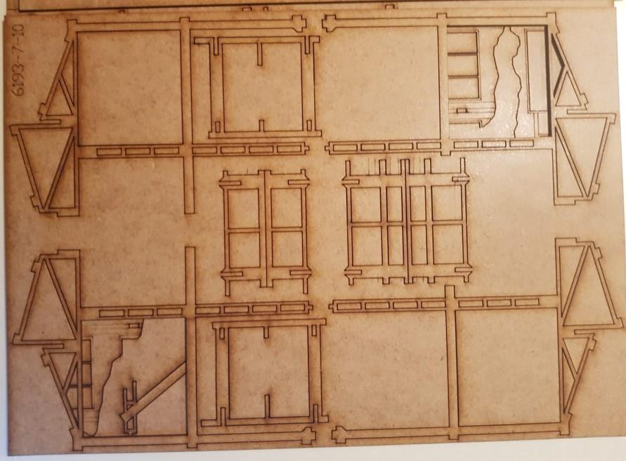 Bogen 7 der Tractor Plant von Sarissa im Italeri Stalingrad-Set