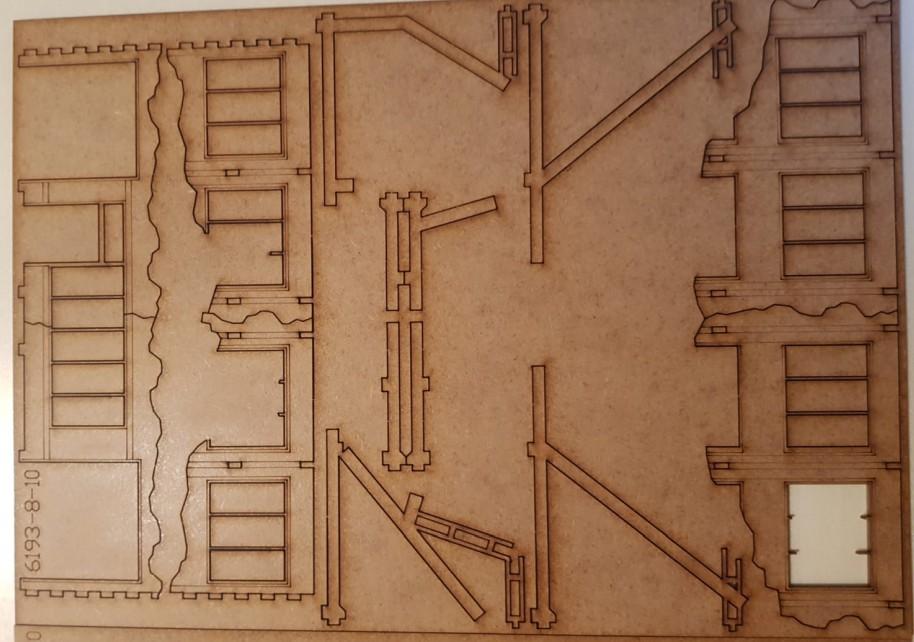 Bogen 8 der Tractor Plant von Sarissa im Italeri Stalingrad-Set