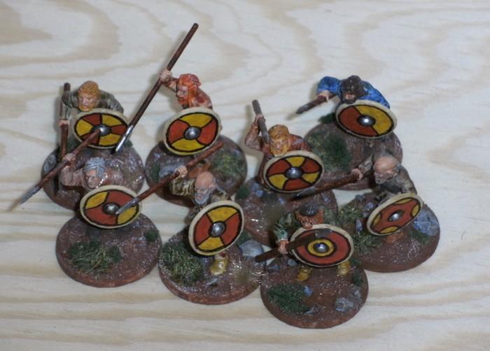 """1 Punkt Krieger aus der SAGA-Armee """"Wikinger"""" vom Honischer."""