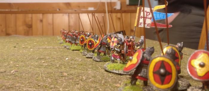 Die Byzantiner, Sturmis SAGA-Truppe formt sich zum Gefecht.