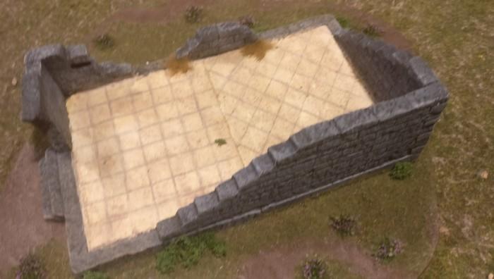 In SAGA-Spielfeldmitte hatte man  dieses verlassene Kloster platziert.