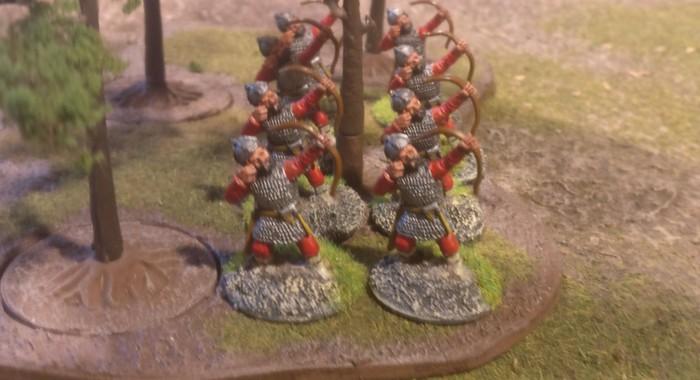 Die völlig verkannten Bogenschützen der Byzantiner im Wald.