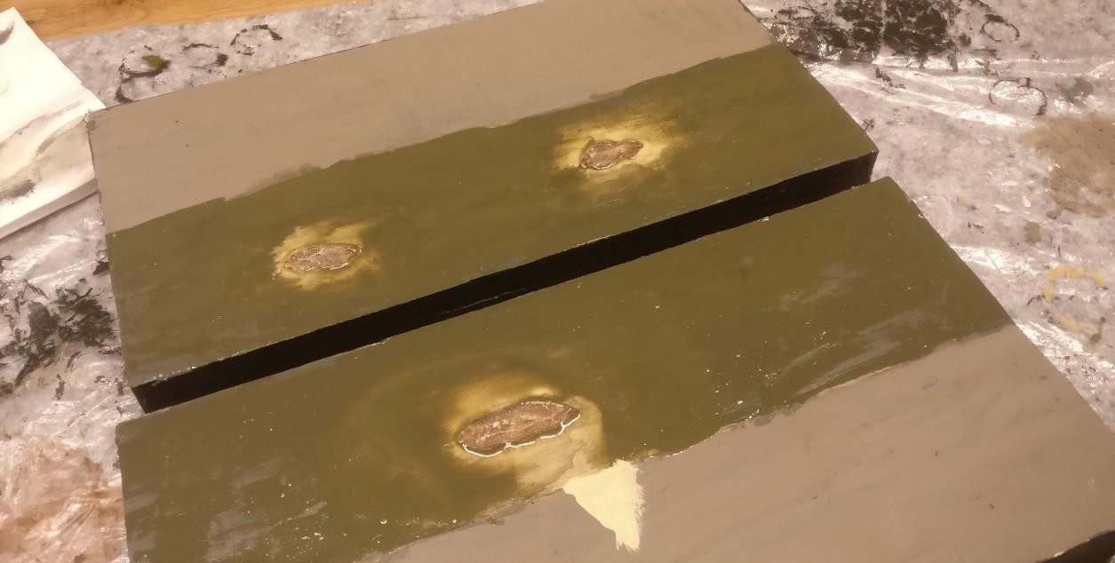 Das Wolgaufer wird: Jetzt ist es dicht genug. Das Wasser hat die richtige Farbe, die seichten Stellen sind gut erkennbar.