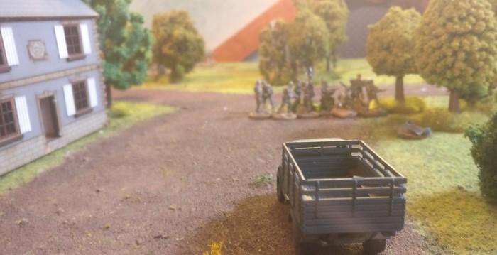 Kalt erwischt! Der britische Trupp aus der Sicht der Patrouille.