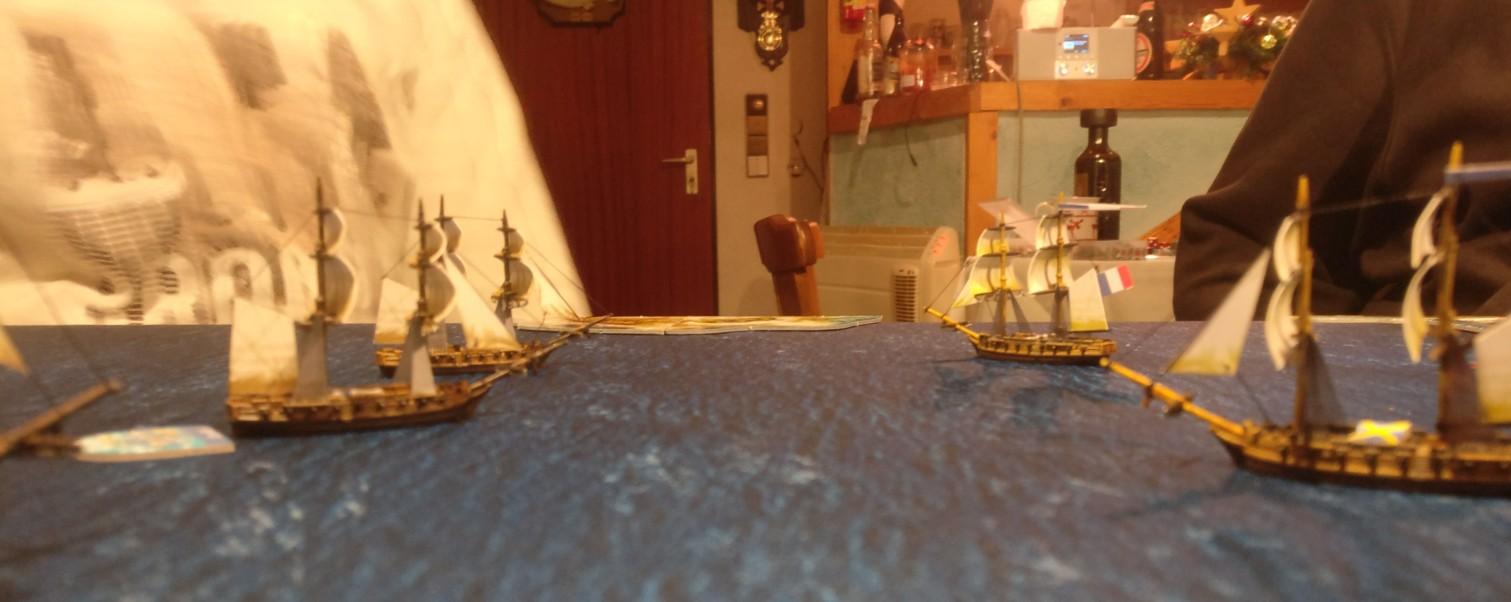 Die Black Seas Flotten stürmen aufeinander zu.
