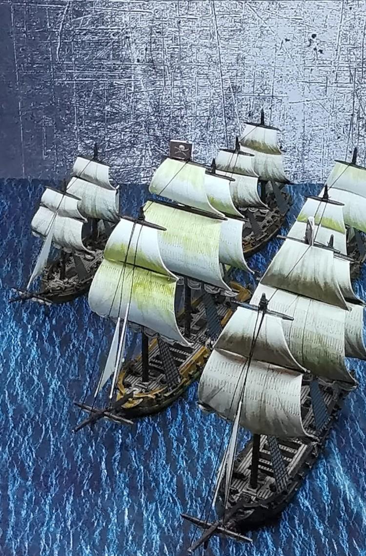 Ein Traum für jeden Liebhaber von Naval Battles des Age of Sail. Halvarsons Navy Fleet stechen in See.