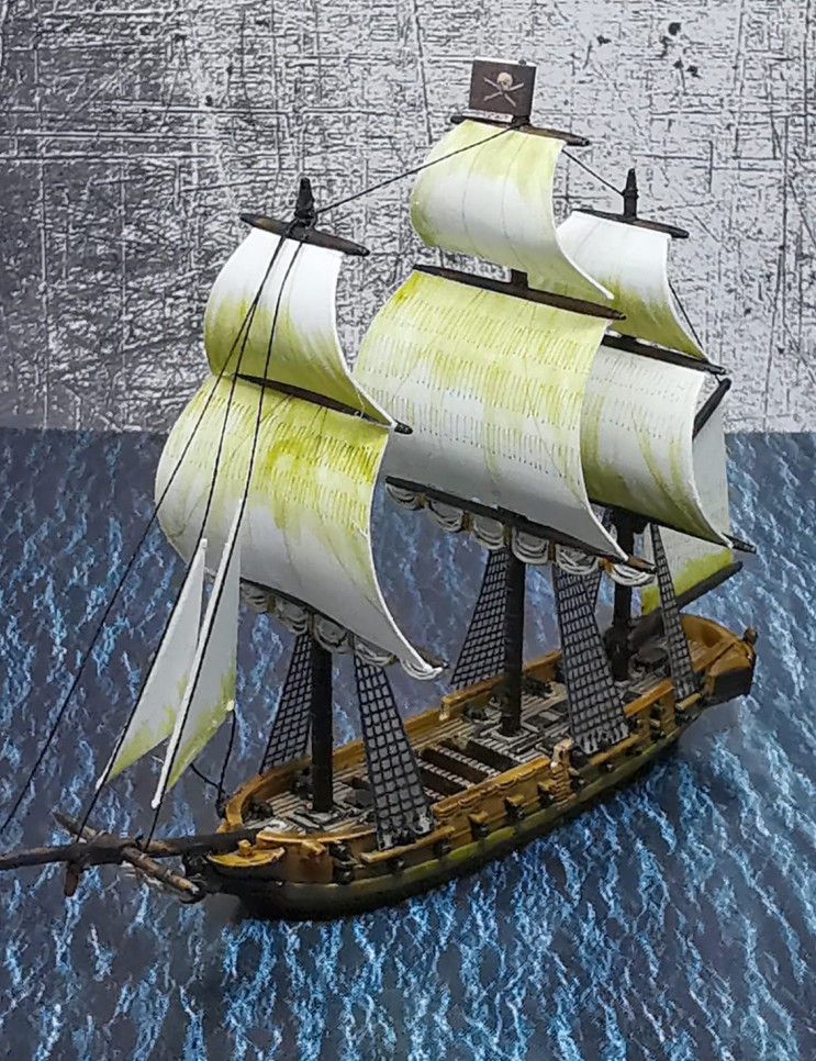 Bitte mak genau hinschauen. Das hat Black Seas zu bieten. Wer auch nur einmal in Piraten der Karibik war, der muss das Black Seas Tabletop lieben.
