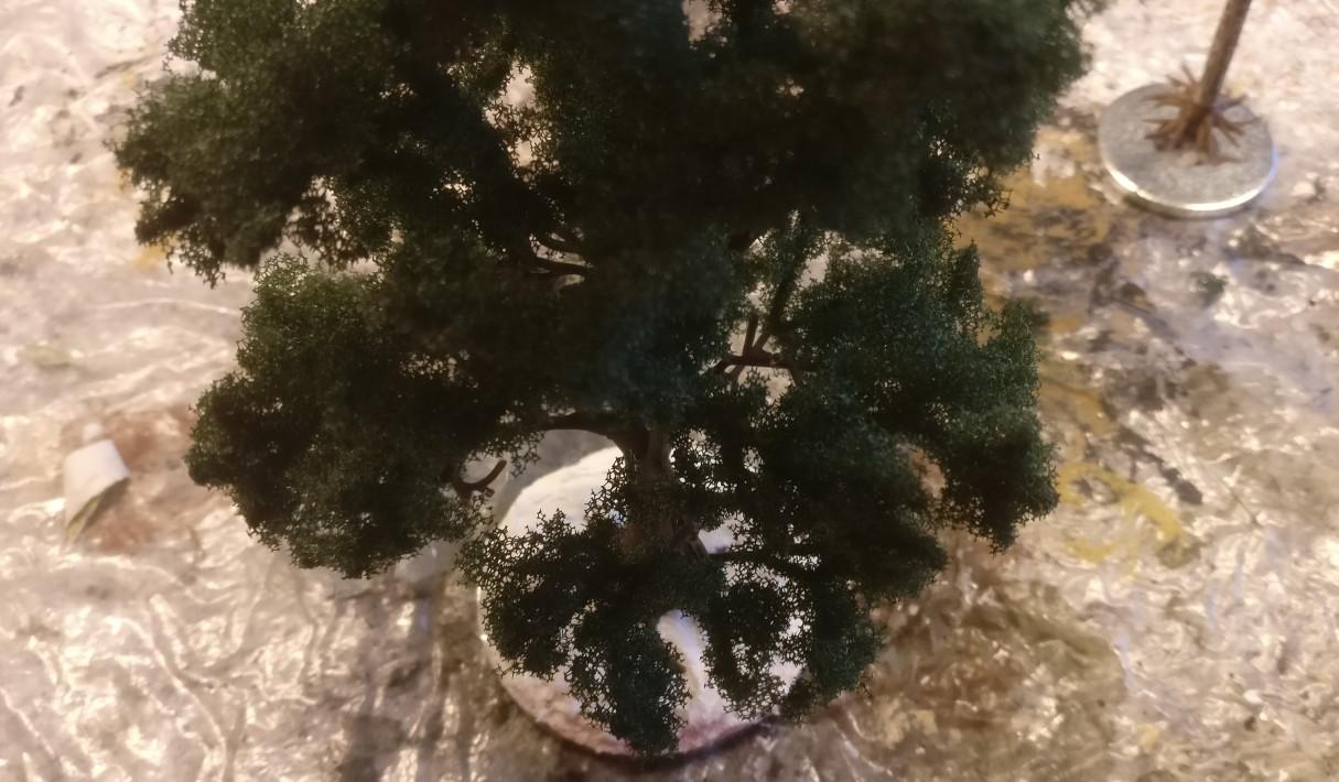 Der Baum steht stabil darauf.