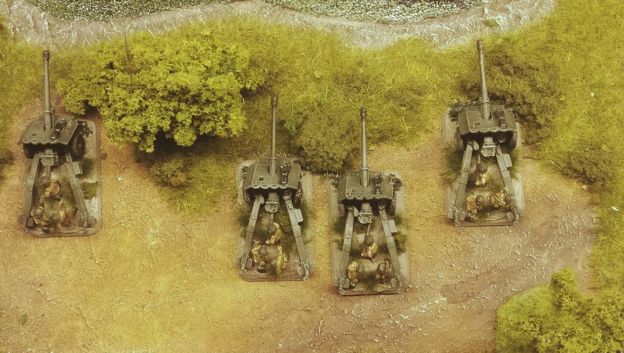 Hier ist das Platoon in Stellung am Sümpfchen. Isses nich eine Augenweide?