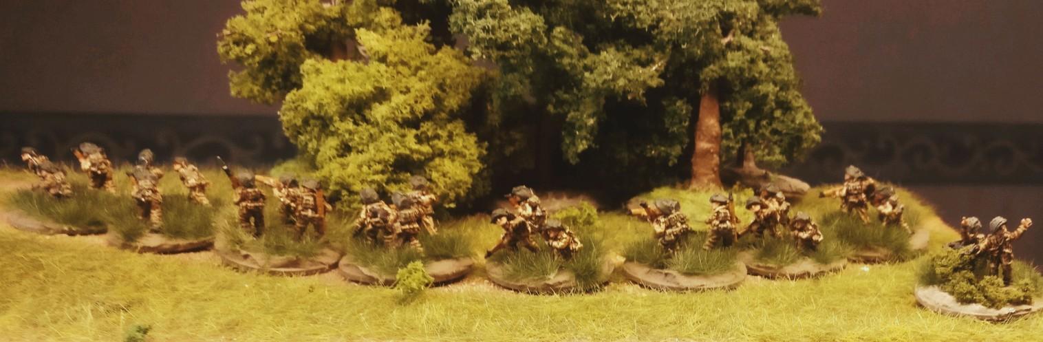 Das 2nd Infantry Platoon meiner PBI British Rifle Company.