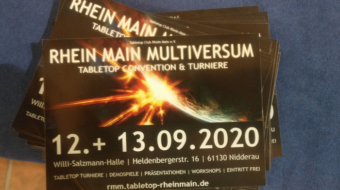 Rhein-Main-Multiversum 2020: am 12. + 13.09.2020 bin ich in Nidderau!