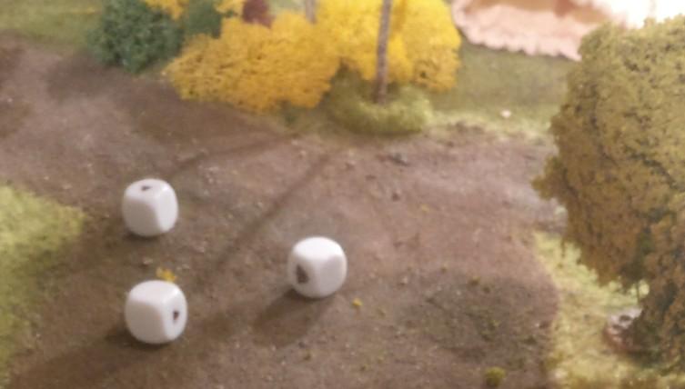 """Die Verteidigungswürfel sagen """"Wir sind da raus!"""" und die Rebellen stecken alle Treffer ein."""