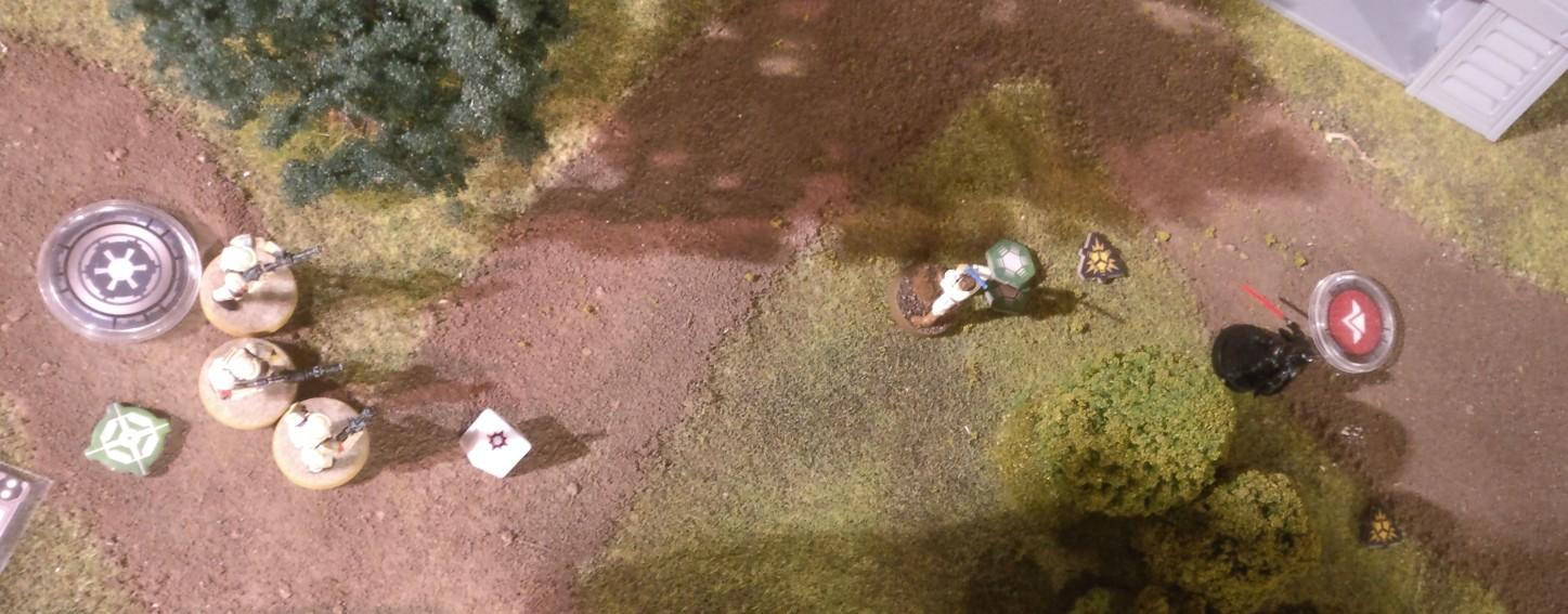 Hier machen wir mal einen Sprung ans Ende des Spiels. Bossk hats gebröselt. Sabine Wren und Luke Skywalker haben ihn ausgeknockt. Ein breites Grinsen huschte da über Henrys Gesicht.