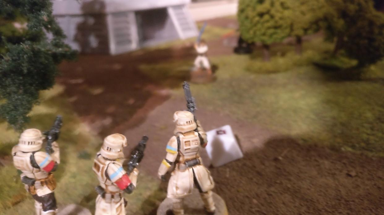 Doch jetzt ist die Star Wars Legion Battle nach sechs Runden zu Ende. Die Sturmtruppler würden gar zu gerne dem Luke Skywalker den Garaus machen.