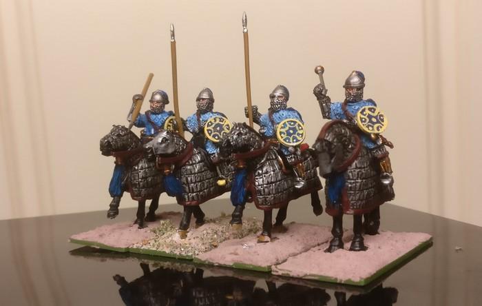 Byzantinische Panzerreiter. Die Klibanophoroi des XENA in seiner SAGA-Armee.