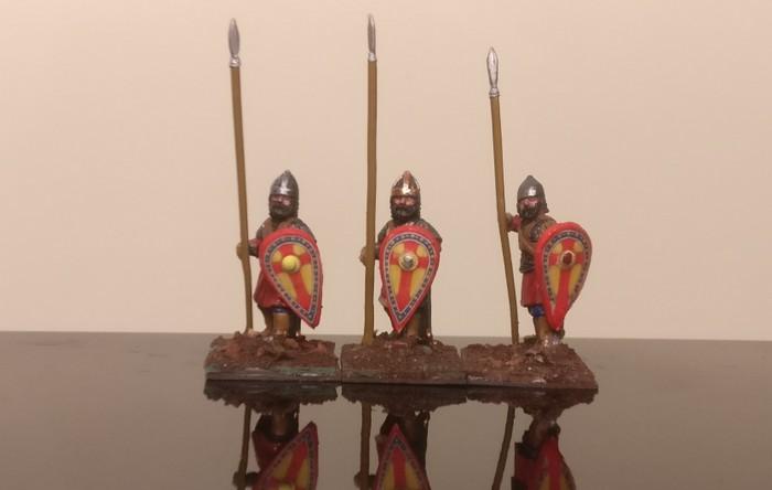 Krieger in der Byzantiner SAGA-Armee des XENA.
