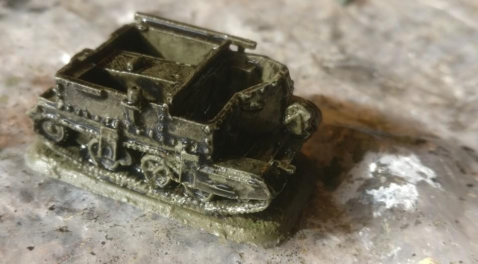 Schon nach dem ersten Auftrag des Black Wash auf den Bren Carrier von Flames of War sieht man, dass das Modell durchaus gut modelliert ist.