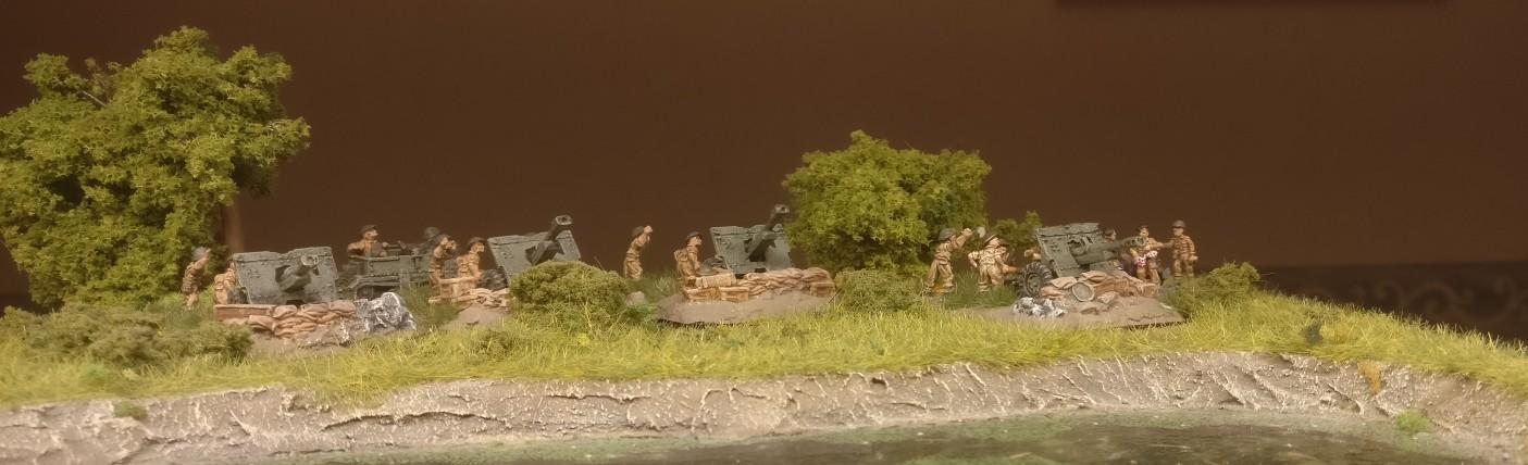 Die Royal Artillery Battery von vorne.