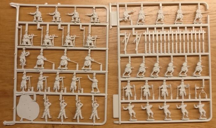 Der Gussast des Figuren Set Siberian Riflemen (Revell 02516)
