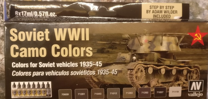 Soviet WWII Camo Colours for Soviet Vehicles 1939-1945 (Vallejo 71.188)