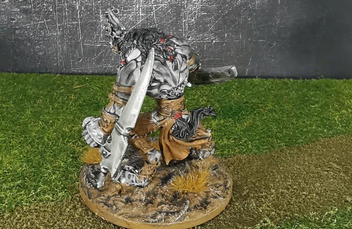 Der andere Wolf Fighter aus dem Wolfen & Skorpione: Confrontation Starter Set von Rackham von - ebenfalls von vorne.