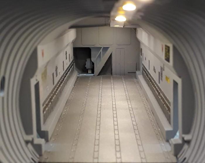 Der Laderaum des Airbus A400M (Revell 04800).