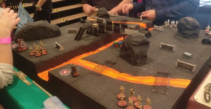 Star Wars Legends Spieltisch Planet Mustafar auf dem Cave Con 2020 in Aschaffenburg